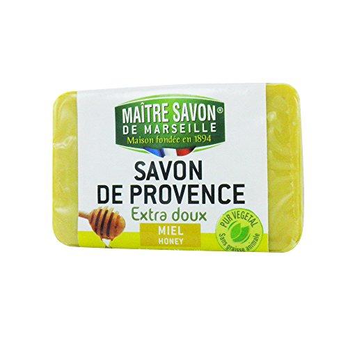 Savon de provence Extra Doux Miel – Maître Savon de Marseille – Savon de Marseille 100 g miel