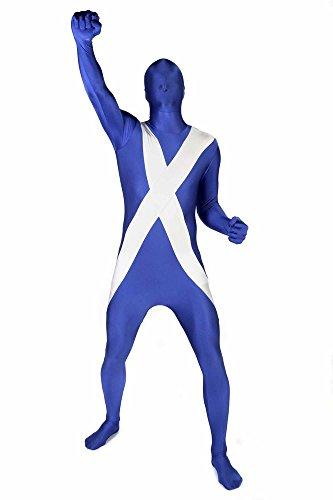 Morphsuit™ - Tuta intera aderente per travestimento con bandiera scozzese, Unisex adulto, taglia: L
