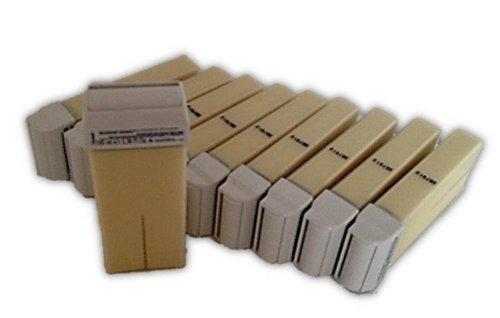 10 Wachspatronen 100 ml Nachfüller Bianco bei starkem Haarwuchs für Wachsstationen zur Haarentfernung Enthaarung