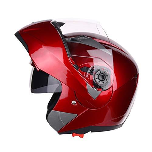 Qianliuk Moto Bike Motorrad-Helm Dual Lens Full Face Anti-Fog Helm Adult Universal Motorcross Helm