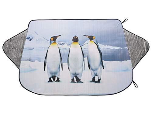 Ultimate Speed® Thermo-Scheibenschutz-Orignal Eiskratzen im Winter – reduziert Hitzestau im Sommer; Passend für gängige Pkw-Windschutzscheiben (Neutral- Bedruckt Pinguin)
