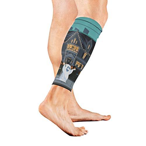 AGIRL Eine Menge gruselige Monster Kalb Kompression Ärmel Bein Kompression Socken für Schienbeinschiene Kalb Schmerzlinderung Männer Frauen und Läufer verbessert die Durchblutungserholung