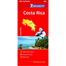 Costa Rica NATIONAL Map (Michelin National Maps)