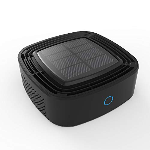 BILLY'S HOME Solar-Auto-Luftreiniger, neben Formaldehyd-Luftreiniger Sun Deodorant-Aromatherapie, Plasma Wave und Geruch Reduktionswaschbarer AOC Carbon Filter,Black (Carbon-geruchs-filter)