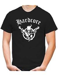 Hardcore T-Shirt | Hard Harder Hardstyle | Musik | Electro | Minimal | Deejay | Männer | Rock | Pop | Herrn | DJ | M1