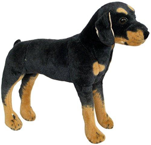 Wagner 1033 - Plüschtier Hund Rottweiler - stehend - 60 cm