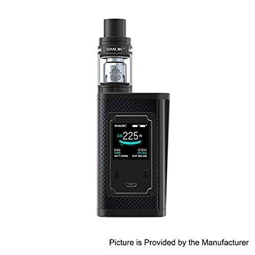 NEW Smok Majesty 225W TC Vape Kit with 2ml TFV8 X-Baby Tank (Black Carbon Fiber & Black) -