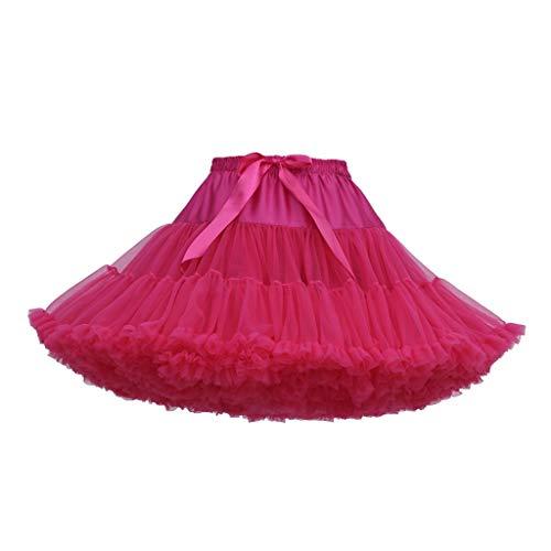 Tanz Karibik Kostüm - VEMOW Heißer Elegante Mädchen Karneval Mode Einfarbig Tanzparty Tanz Ballett Nette Tutu Tüll Röcke (H, Freie Größe)