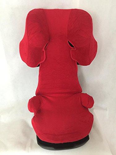 Sommerbezug Schonbezug für Cybex Solution X, X2, X-Fix,X2-Fix Frottee 100% Baumwolle rot