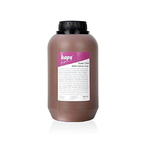 Lederfarbe für Naturleder, Sythetik und Textil. Entwickelt Super Color Kaps 500ml (106 dunkelbraun) (Frau Super Kap)