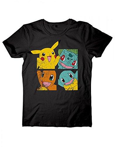 Pokemon - Pikachu and friends T-Shirt XL (Tv-retro-t-shirt)
