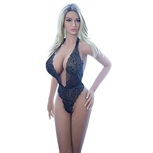 Sexpuppe Lebensechte Liebespuppe Love Doll Sex Doll Silikon Material mit realistisch 3 Öffnungen Blowjob Anus Vagina Sex Spielzeug für Männer Erwachsene Puppen (Braun)