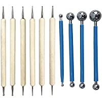 symboat 10pcs Dotting DIY herramientas Kit lápices capacitivos acero inoxidable balón para Mandala Rock pintura