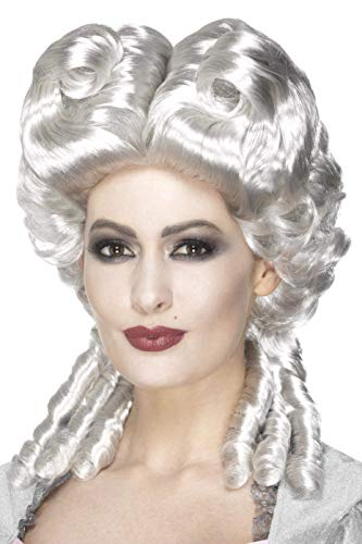 Smiffys Damen Marie Antoinette Perücke, One Size, Weiß, 45087
