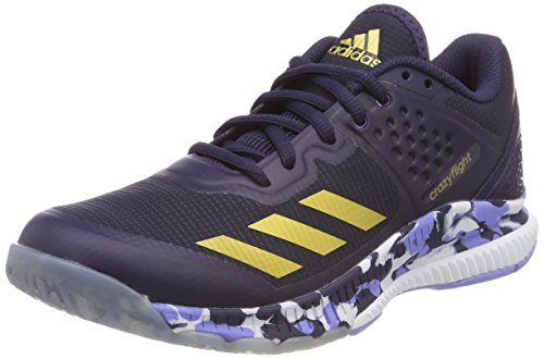 adidas Damen Crazyflight Bounce W Volleyballschuhe, Blau (Tinnob/Dormet/Purtiz 000), 37 1/3 EU (Chalk Gold)