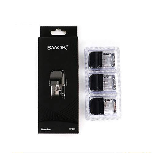 E-zigarette Refill-pack (Smok Novo Pod Cartridge Pack of 3 2ml Refill Cartridge Novo Pod Mesh Ceramic Coils (Regular 1.2ohm))