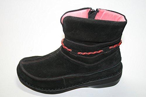NAOT - RIDGE, Damen Schuhe Stiefeletten, Leder Schwarz (Black)