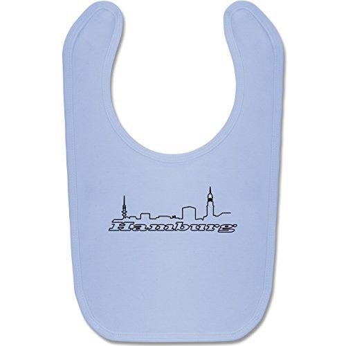 by - Hamburg Skyline - Unisize - Babyblau - BZ12 - Baby Lätzchen Baumwolle ()