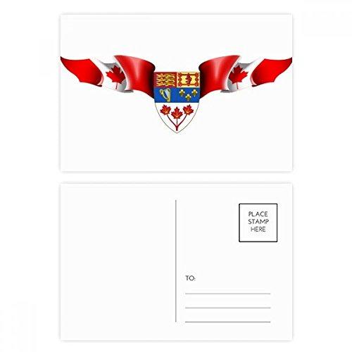 DIYthinker Kanada-Flaggege National Emblem Postkartenset Geburtstag dankt Karte Mailing Side 20pcs 5.7 Zoll x 3.8 Zoll Mehrfarbig -