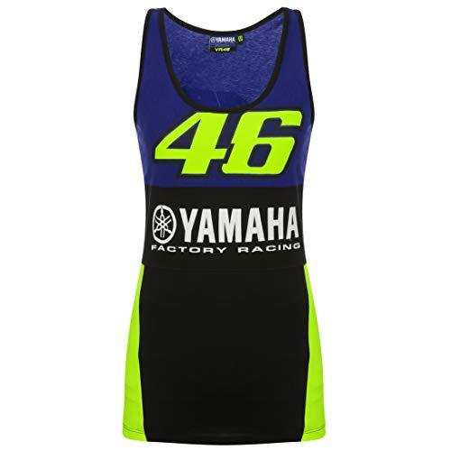Canotta da Donna 2019 Valentino Rossi VR46 Yamaha Factory Racing, Scarpette a Strappo Voltaic 3 Velcro Fade - Bambini, Womens (L) 92cm/36 inch Chest