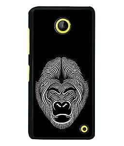 Microsoft Lumia 630 Back Cover Ornamental Decorative Monkey Face Isolated Icon Logo Design From FUSON