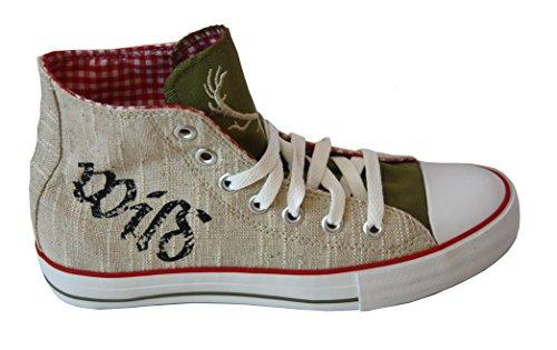 Sneaker für Damen und Herren rot kariert Gr. 38-48 Krüger (44, rot)