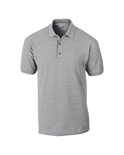 Gildan Herren Poloshirt Ultra Cotton Adult Pique Polo Shirt, Grau (Rs Sport Grey 295), S