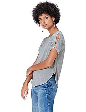 FIND T-Shirt con Apertura sulle Maniche Donna