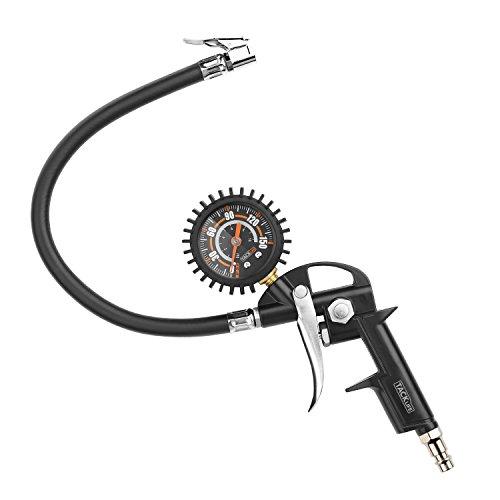 Pistola de aire, TACKLIFE-TIG03-150 PSI con Manómetro Neumáticos multifuncional, compresor de presión de neumáticos Monitor grande para inflar carro coches bicicletas y motocicletas