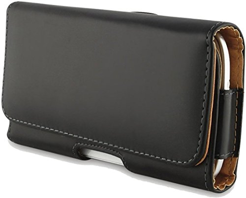 Mobifuse PU Leather Pouch Cover Holster Belt Clip Case for Xiaomi Redmi Note 5 Pro(Black)