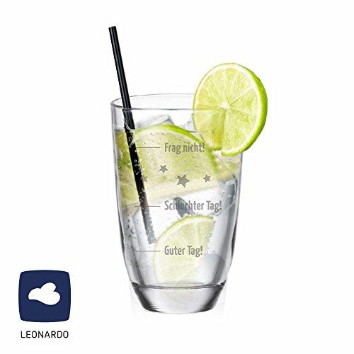 """Leonardo GIN-Glas \""""Guter Tag! Schlechter Tag! Frag nicht!\"""" - Gin Tonic - Geschenkidee - Für Mann/ Frau"""