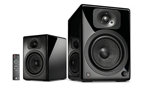 wavemaster TWO NEO black – Regallautsprecher-System (60 Watt) mit Bluetooth-Streaming, digitalen Anschlüssen und IR-Fernbedienung Aktiv-Boxen Nutzung für TV/Tablet/Smartphone, schwarz (66360)