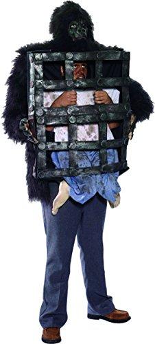 erdbeer-clown - Herren Karnevals-Kostüm Set Nightmare Horror Gorilla, One Size, (Und Käfig Kostüme Gorilla)