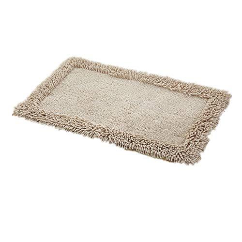 Encounter g morbido tappeto da bagno tappeti tappeto cucina tappeto porta tappetino rettangolare antiscivolo striscia assorbente zerbino bagno doccia tappeto moquette peloso,beige,50x80cm