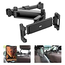 AHK Tablet Holder Car Extendable Car Headrest Holder for 2020 iPad Pro 12.9 Inches, iPad Air Mini 2 3 4, Switch, Samsung Tab, Smartphone and Tablet with 4.7 - 13 Inches, Black