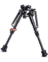 Zeadio drehbare Zweibein, mit 360-Grad-Rotation Picatinny/Weaver Halterung und ausziehbar Beine (15 bis 23 cm / 6 bis 9 Zoll)