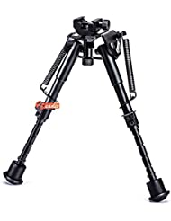 Zeadio Bípode rotativo con Base Picatinny/Weaver de rotación 360 grados y piernas extensible (15 a 23 cm / 6 a 9 pulgadas)