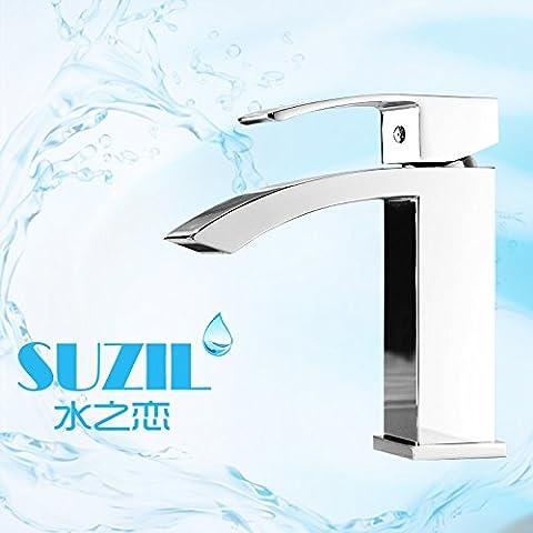 Upper-Die kaltes und warmes Wasser mix Wasserhahn Waschbecken wasserhahn Kupfer Wasserhahn Single handle Faucet