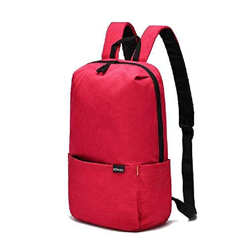 YJZZ Doppelte Doppel-Umhängetasche Einfache Lässige Multifunktionstasche Notebook Nylon Tasche Mode Trend Reiserucksack 20L oder weniger/Magenta