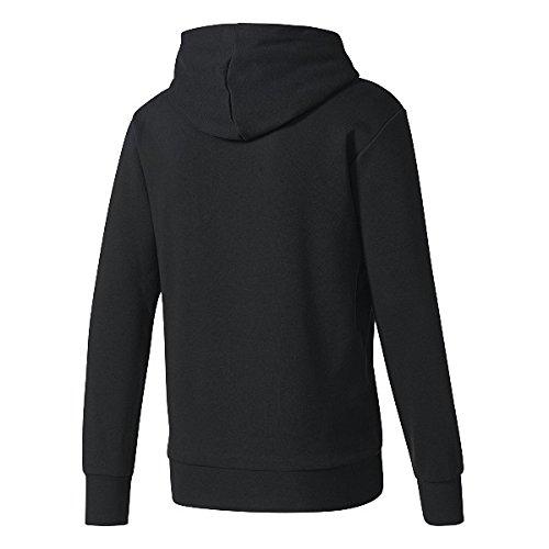 ADIDAS Sweatshirts SID BRANDED P/O BLACK/WHITE XL (Sweatshirt Performance Hoodie)