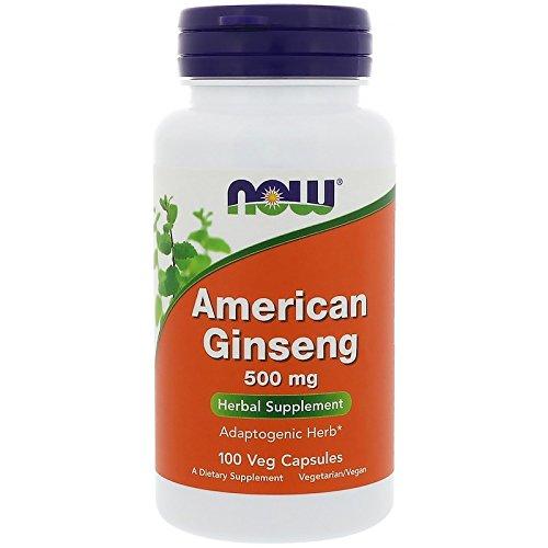 El ginseng americano, 500 mg, 100 Cápsulas - Now Foods