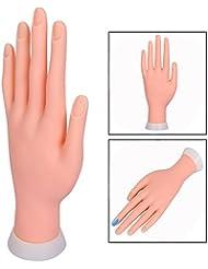 Itian Modèle de pratique à ongles, Mâle souple et souple en plastique souple pour la formation de démarreur Fake Nail Art, manucure bricolage, couleur chair