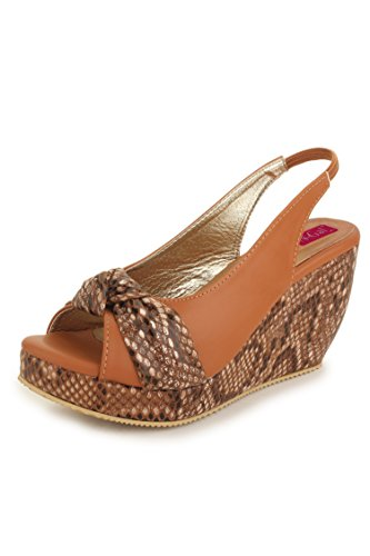 N-Gal Women's Brown Synthetic Fashion Sandals - 3 UK
