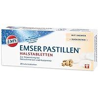 EMSER Pastillen Halstabletten m.Ingwer zuckerfrei 30 St Lutschtabletten preisvergleich bei billige-tabletten.eu