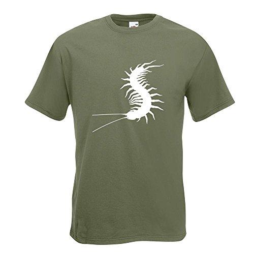 KIWISTAR - Hundertfüsser T-Shirt in 15 verschiedenen Farben - Herren Funshirt bedruckt Design Sprüche Spruch Motive Oberteil Baumwolle Print Größe S M L XL XXL Olive