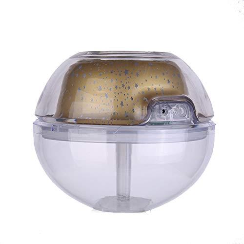 Preisvergleich Produktbild LBOJA 500ml Nachtlicht Projektion Luftbefeuchter Diffusor Air Fresher Home Auto Nebel Maker - Golden