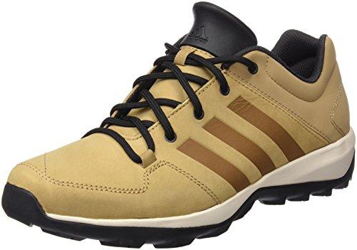 adidas Daroga Plus Lea - Botas de montaña para hombre, color marrón / negro / blanco, talla 49 1/3