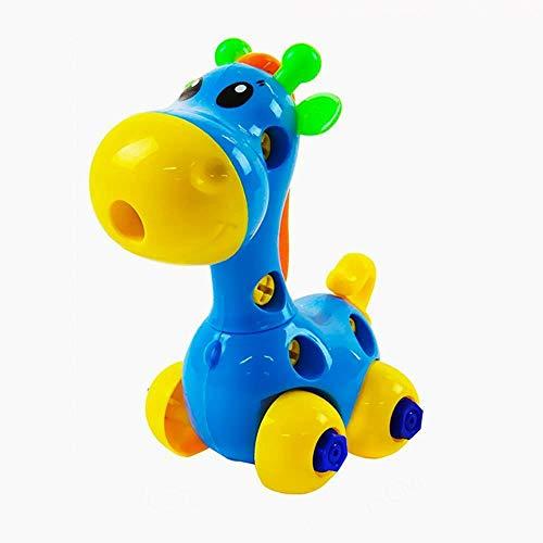 Beito Baby-Spielzeug Push and Go angetriebene Auto-Spielzeug Jungen-Mädchen-Kind-Geschenk-LKW Baufahrzeuge Spielzeug Set für 1-3 Jahre alten Baby Toddlers- Kipplaster, Zementmischer, Bulldozer, Traktor 1pc Giraffe