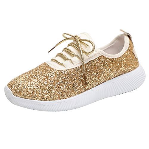 Donna Sneakers Sneakers Donna Classiche Scarpe da Corsa Scarpe da Camminata Scarpe da Rugby Rosa Oro...