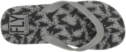 Fly London - Riddle, Sandali Unisex - Adulto Nero (Grey(Black Print)